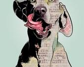 """Weimaraner, 11x14"""" Pop Art Print, Dog Art"""
