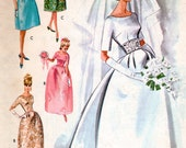 Vintage 60s Evening Dress Pattern Brocade Wedding Gown Silk Bridesmaid Dress McCall's 7091 SALE