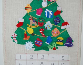 Christmas Advent Calendar Felt