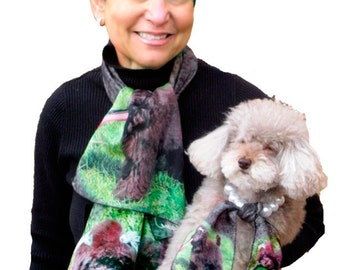 Digitally Printed Matching Pet Photo Scarves