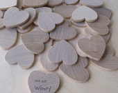 Guest Book Alternative & Wooden Keepsake Box (100 hearts)