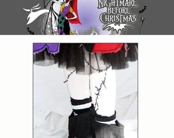Sally Legs (leggings) for Nightmare Before Christmas Girls ƒHalloween Costume