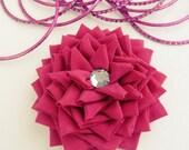 fabric flowers Tutorial Deluxe Pattern  -  PDF sewing pattern - DIY  fabric flower brooch - huge flower photo prop