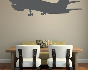 Airplane Wall Decal, Plane Decal, Airplane Nursery Decor, Nursery Wall Decal, Wanderlust Decal, Pilot Wall Decal, Gifts for Travelers