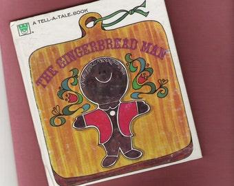 Vintage Gingerbread Man Book Dated 1969 Tell A Tale Whitman Western Publishing Jan Sukus Child Children Story Kid Stories Preschool Cookie