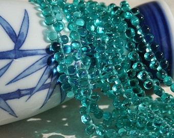 6x4mm Teardrop Beads - Czech Glass Beads - Jewelry Making Supply - 4x6mm Tear Drop Seafoam (100 beads)