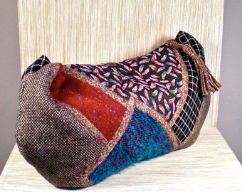 KOOS Van Den Akker Vintage Handbag Oversized Clutch Patchwork - AUTHENTIC -