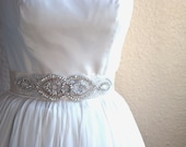 Wedding Dress Sashes JULIET Rhinestone and Crystal Beaded Bridal Sash