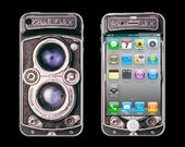 Vintage Rollei Rolleiflex Camera Cell Phone Skin 3M ADHESIVE - iPhone 5/ 4/ 3, Droid, Blackberry, Smartphones