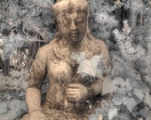 Buddha statue, infrared photography, Zen photography,namaste, buddha photo, feng shui photography, feng shui photo, home decor