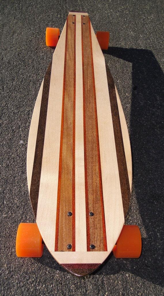 "LONGBOARD  (40 x 10) - Custom Made (4 Types of Woods) - ""Rockaway"""