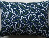 Indoor Outdoor Pillow Cover - Blue Pillow - Decorative Pillow -  Summer Pillow - 12 x 16 Inch
