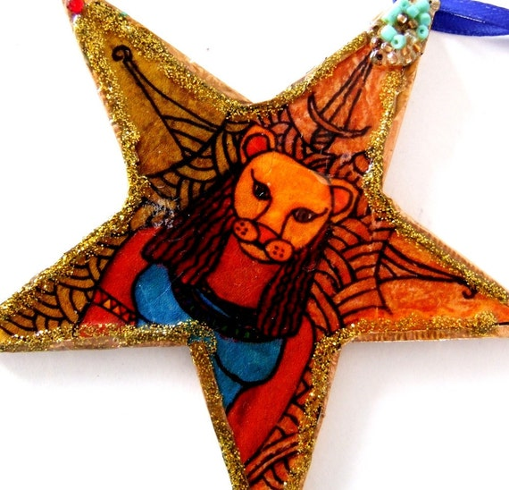 Handmade Sekmet Lion Headed Egyptian Protectress Ornament