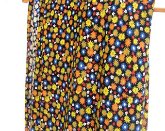 vintage boho fabric.hippie.groovy.6.5 yds.home decor.60's.stretchy knit.tiny floral.tessiemay