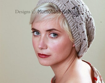Crochet Hat Pattern for Yoga Beret - Checker Beret