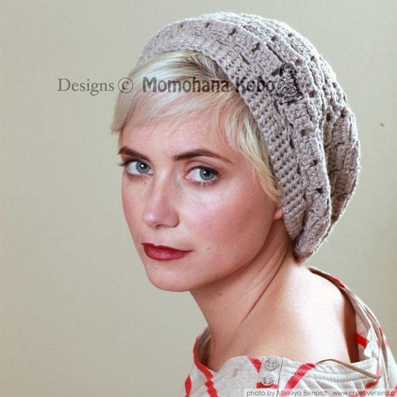 Crochet Hat Pattern for Yoga Beret - Checker Beret