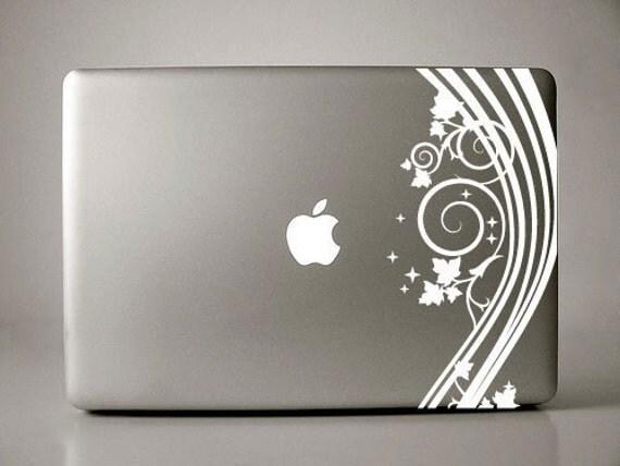 Magdalena Floral - Macbook Decals mac decal macbook stickers macbook pro decal