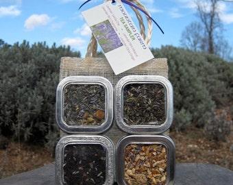 Lavender Tea Sampler - Four Herbal Blends  - More to Enjoy