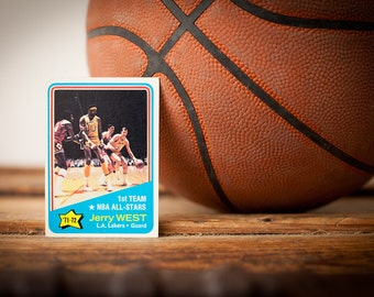 1972-73 Topps Jerry West #164 All-Star Basketball Trading Card, Vintage 70s, NBA Collectible