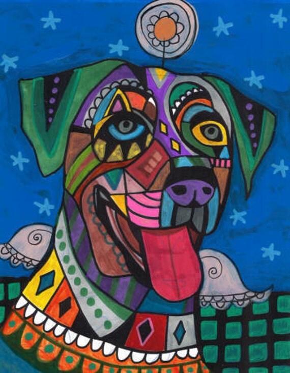 50% Off - Catahoula Leopard Dog Art Angel Art  Art Print Poster by Heather Galler (HG276)