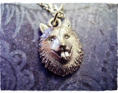 Silver Husky Face Necklace - Antique Pewter Husky Face Charm on a Delicate Silver Plated Cable Chain or Charm Only