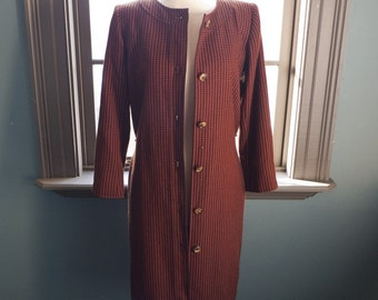 SALE!  Vintage Yves SAINT LAURENT tweed mod coat
