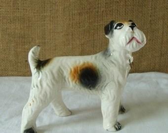Dog Figurine MID CENTURY Terrier Dog Figurine Vintage Best Friend JAPAN Dog Figurine Japan Art Figurine Ceramic Dog Super Cute Pooch Puppy