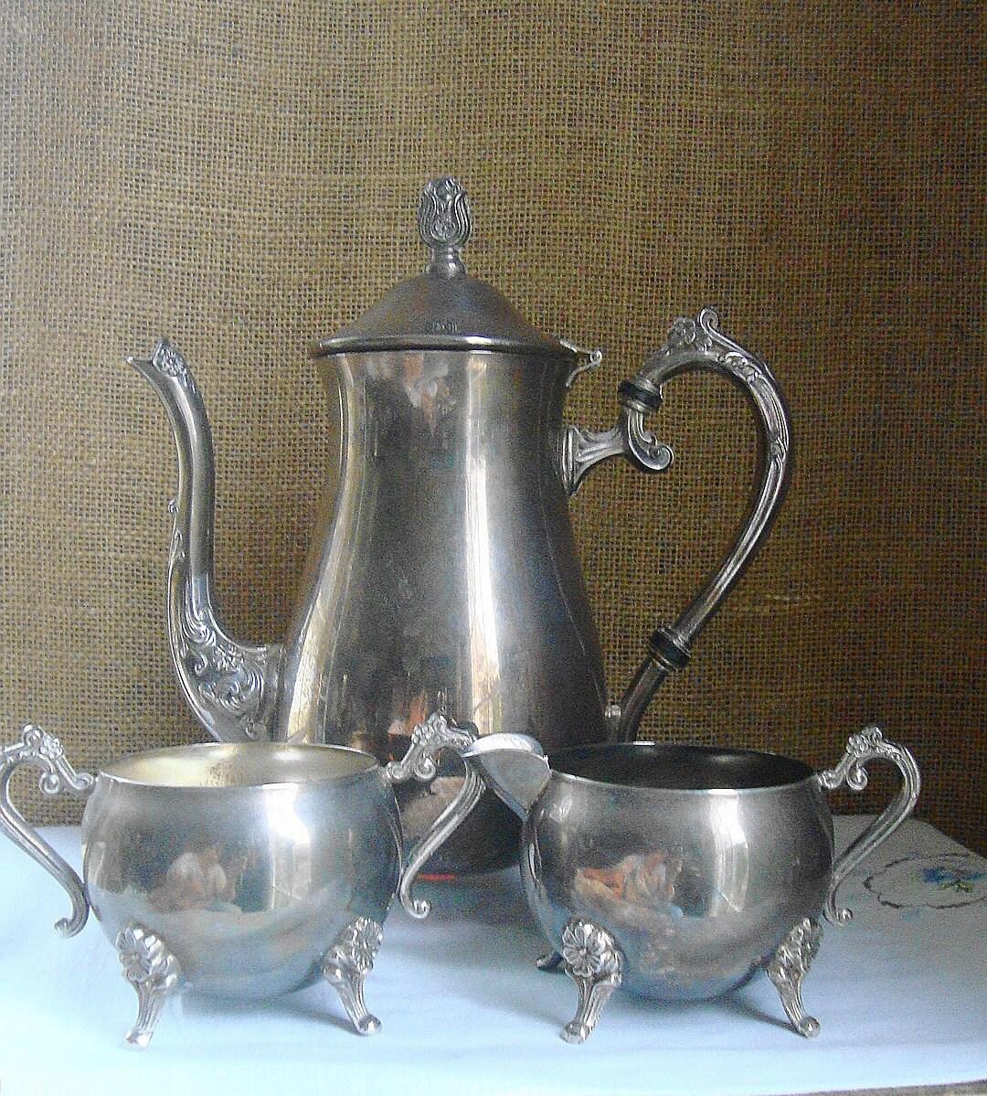vintage victorian elegance silverware coffee tea service with