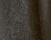 Shiny Black, Damask Fashion Fabric, Lightweight Polyester, half yard, B12