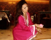 Pink Traditional Marrakech Tunic- Casual wear, loungewear, resortwear