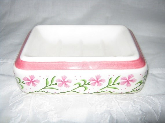 Soap Dish/ Mid Century Soap Dish/Hand Painted By Gatormom13