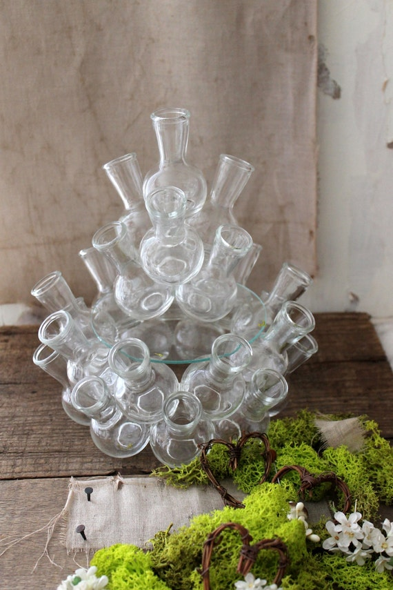 V I N T A G E Stacking Bud Vases Spring Wedding Decor