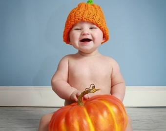Pumpkin Hat, Fall Pumpkin Hat, Crochet Pumpkin Hat, Baby Pumpkin Hat, Thanksgiving Hat, Fall Crochet Hat, Pumpkin Photo Prop,CbbCreations