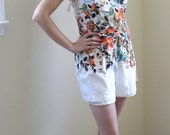 the betsey floral rockabilly romper playsuit by hawaiian casuals for stan hicks 40s 50s