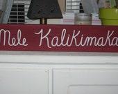 Mele Kalikimaka (Hawaiian Christmas) Wooden Sign