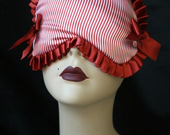 Sailor - Nautical inspired Sleep mask in satin with red and white stripes 'Micheline' by Love Me Sugar