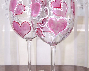Heart Wine Glasses Set of Two