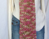 ON SALE, Pink Wool Super Scarf Thick 110 inches eXtra Long Crochet oversize Pink Scarf Neckwarmer Unique Womans Birthday/Valentines Gift