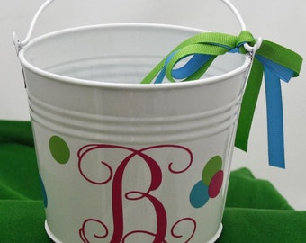 SALE  small galvanized pail/very versatile, personalized