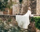 Wedding cape bridal cloak natural white ivory satin cape with hood handfasting