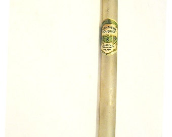 Art Nouveau antique perfume vial, vintage salesman's sample Cashmere Bouquet, 1910s 1920s Colgate glass tube, original cork stopper, scarce
