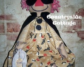 "Primitive Halloween ""Trick or Treat""  Raggedy Ann"