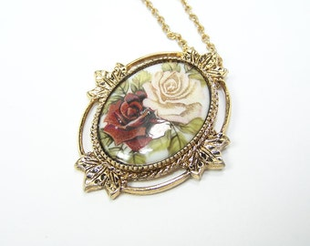 VINTAGE Shabby Chic Garden Necklace in Gold Designer Style by Sarah Coventry Sarah Cov COVENTRY