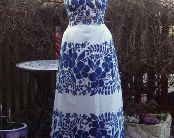 Vintage evening dress by Lauhala Hawaii size US 16