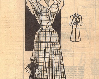 3810 1950's Women's Blouse and Skirt Vintage Sewing Pattern Mail Order 3810 Bust 34