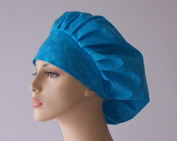 Surgical Bouffant Scrub Hat - Tonal Turquoise Oceans