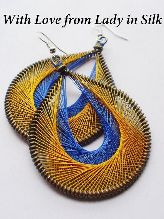 FREE SHIPPING Hot Summer Peruvian Thread Earrings