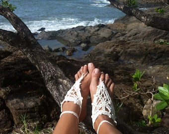 Barefoot Crochet Sandals Pattern - PDF summer accessories - beach cool fashion hot Woman accessory - Instant Download