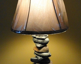 Stacked Stone Lamp  - The Balancing Act   - Custom Created