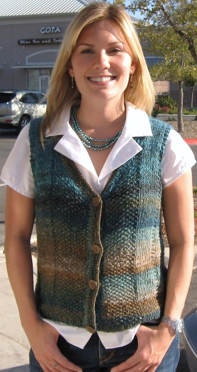 Womens Teal Sweater Teal,sweater Vest,easy